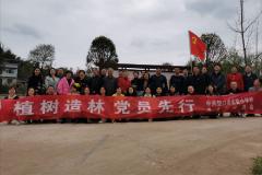 """重庆市垫江县实验小学校开展""""植树造林,党员先行""""实践活动"""